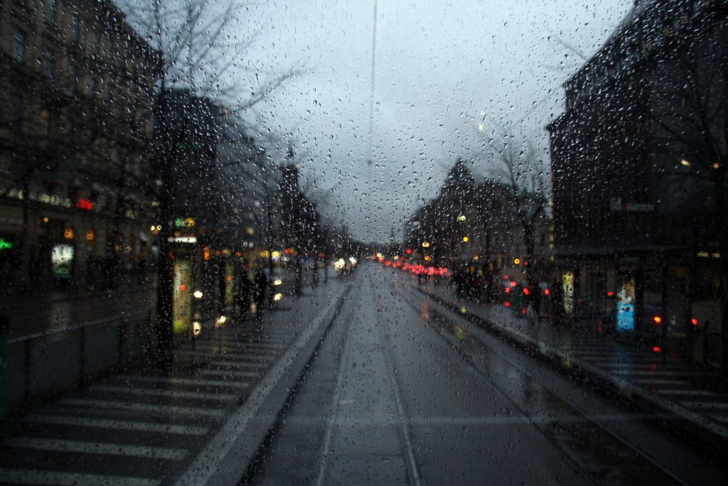 rainy winter day